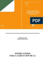 Instrucciones Presupuestarias 2015