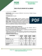 Ficha Tecnica Policloruro de Aluminio