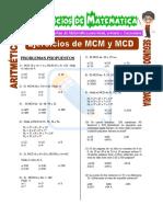 Ejercicios de MCM y MCD Para Segundo de Secundaria