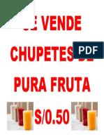 Se Vende Chupetes de Pura Fruta