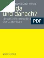 Derrida Und Danach Literaturtheoretische Diskurse Der Gegenwart