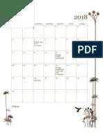 Calendário 2018 Abril Maio Junho Julho