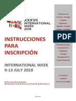 Instrucciones Para Inscripciones IW July 2018