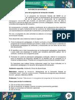 Evidencia Formato Estructurar El Cronograma Del Programa