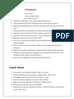 Form Pertanyaan Kewirusahaan_Aspek Teknis & Finasial
