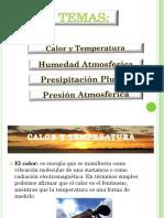 Grupo 3 Calor Humedad Temperatura Presipitacion Presion Atmosferica