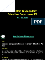 Achievements of KPK in education.