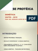 4. Codigo Genetico e Sintese Proteica