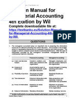 Solution Manual for Managerial Accounting 4th Edition by Wild