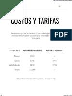 Costos y Tarifas _ Baja Railroad