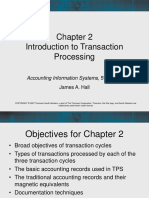 Ais903 Hall 2007 Ch02 Introduction to Transaction Processing