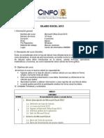 Silabos de Excel 2013