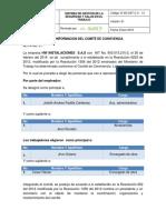 Acta Conformacion Comite de Convivencia 2016