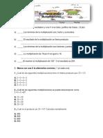 Evaluacion Matematica Unidad 2 Multiplicacion 4 Basico