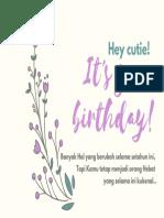 Cream Floral Girlfriend Cute Birthday Card_3