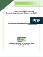 Orientaciones Metodológicas Para La Formulación Profesional Del Proyecto ExEB VE