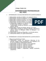 Listado de Enfermedades Profesionales en El Peru - Prime