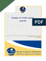 KAA Airports Traffic Report - April 2018