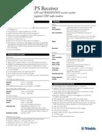 Trimble r7 Spec Sheet