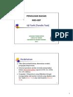 Uji Tarik (Tensile Test)