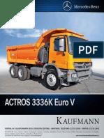 Actros 3336 6x4 Euro 5 36k