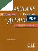Vocabulaire Progressif Du Francais Des Affaires Avec Corrigé