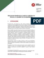 Ghid Privind Identificarea Si Evitarea Conflictelor de Interese Si a Situatiilor de Incompatibilitate