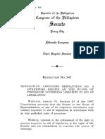 Philippine Senate Rules on Inquiries in Aid of Legislation