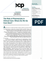 2002. WELCH. the Role of Pharmacists