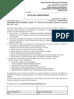 Acta de Compromiso 2018-2019