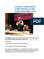 WORLD  Right to Justice – A speech by the Chairperson of AHRC delivered on 17 May 2018 at the Gwangju Human Rights Forum.docx