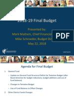 WCSD Final Budget