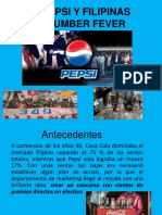 Pepsi y Filipinas Number Fever