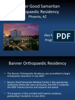 Banner Good Samaritan Orthopaedic Residency for Orthopaedia Acm