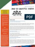 Correo de Linguistica Andina 39