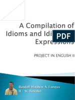 A Compilation of Idioms and Idiomatic Expressions