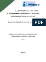 Lineamientos técnicos programa madre canguro - Organismo ...