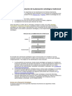 El Proceso de Evolución de La Planeación Estratégica Tradicional