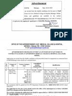 GMCH Balangir Staff Nurse Notification 2018