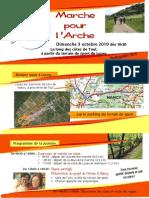 Invitation Marche Projet de L'Arche Nancy 3 octobre
