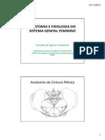SISTEMA GENITAL FEMININO - Parte 1 Modo de Compatibilidade
