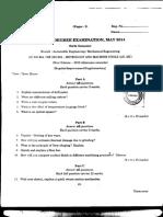 S6 ME Metrology and Machine Tools S6 B.tech MGU 2014 May