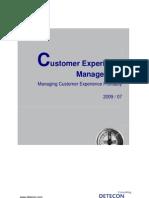 Detecon Opinion Paper Customer Experience Management. Managing Customer Experience Profitably