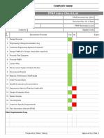 PPAP Workbook Template