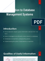 1 Introduction to DBMS