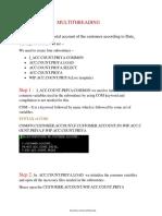 Multithreading Steps