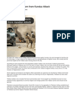 12 Lessons to Learn from Kunduz Attack