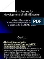 27. Govt. Schemes for Development of MSME Sector