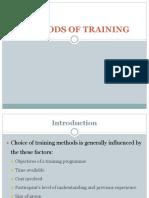 Methods of Trainng