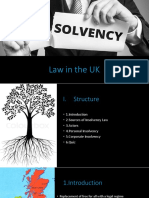 Insolvency Law in the UK